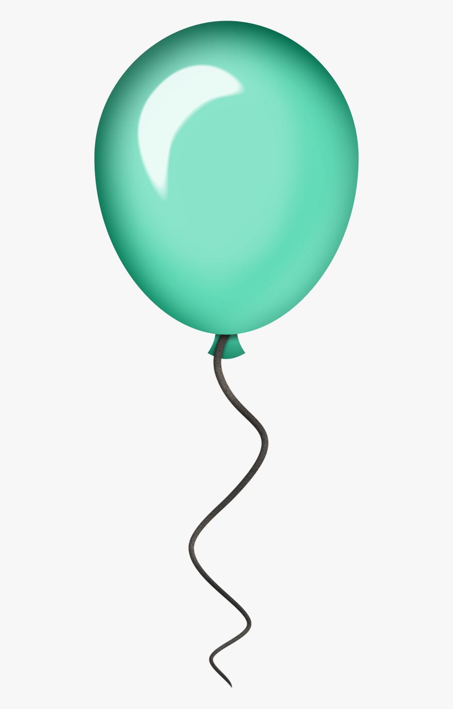 Birthday Clipart, Art Birthday, Happy Birthday, Clipart - Aqua Balloon Clipart, Transparent Clipart