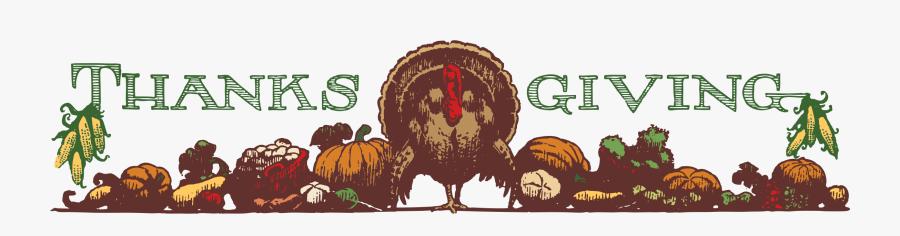 Menu Clipart Thanksgiving - Thanksgiving Header, Transparent Clipart