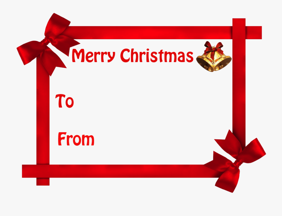 Gift Tag Christmas Present - Christmas Gift Tag Background, Transparent Clipart