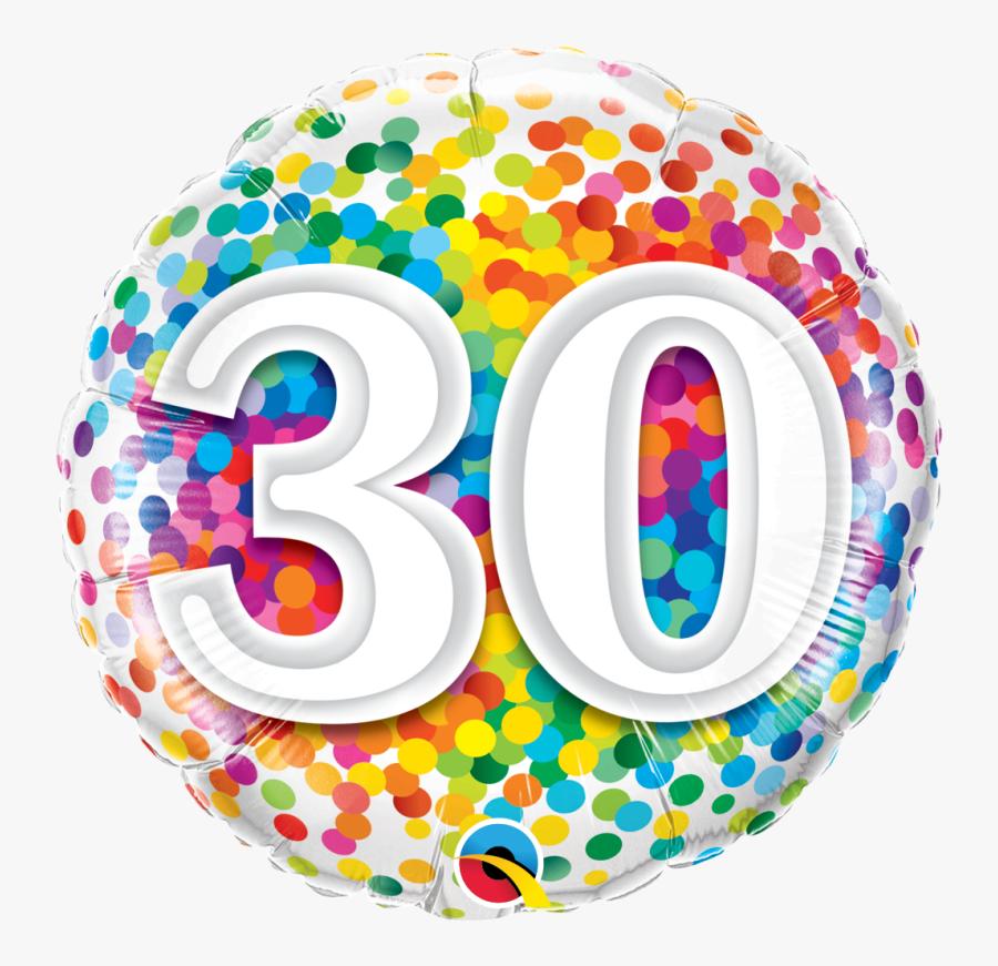 70th Birthday Rainbow Confetti Balloon - 90 Balloon, Transparent Clipart