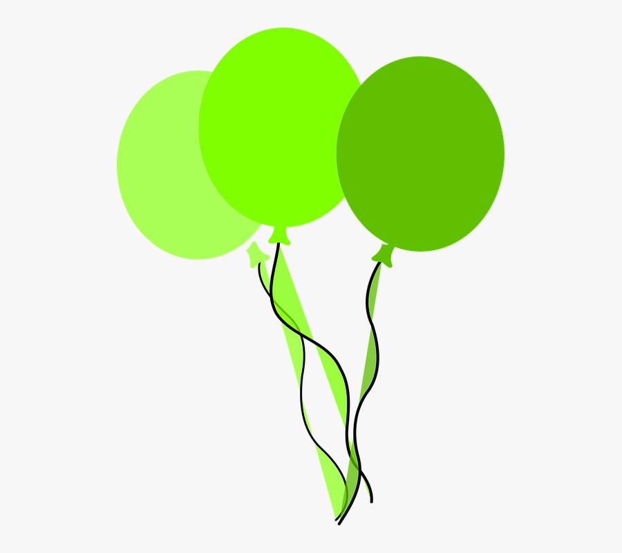 Balloon Clipart Clip Art - Green Birthday Balloons Clipart, Transparent Clipart