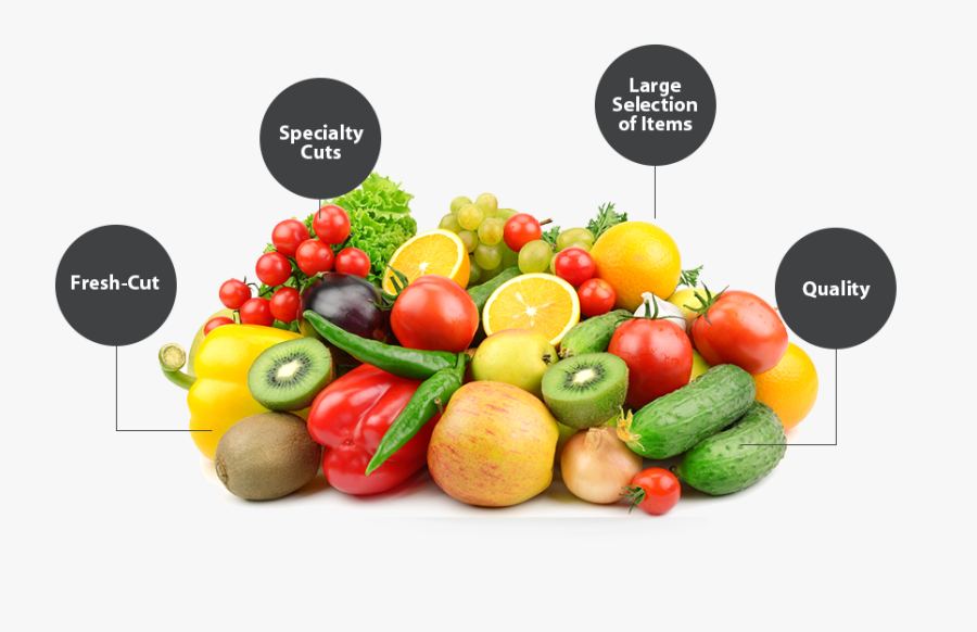 Transparent Fruit And Vegetable Png - Fresh Cut Fruit And Vegetables, Transparent Clipart