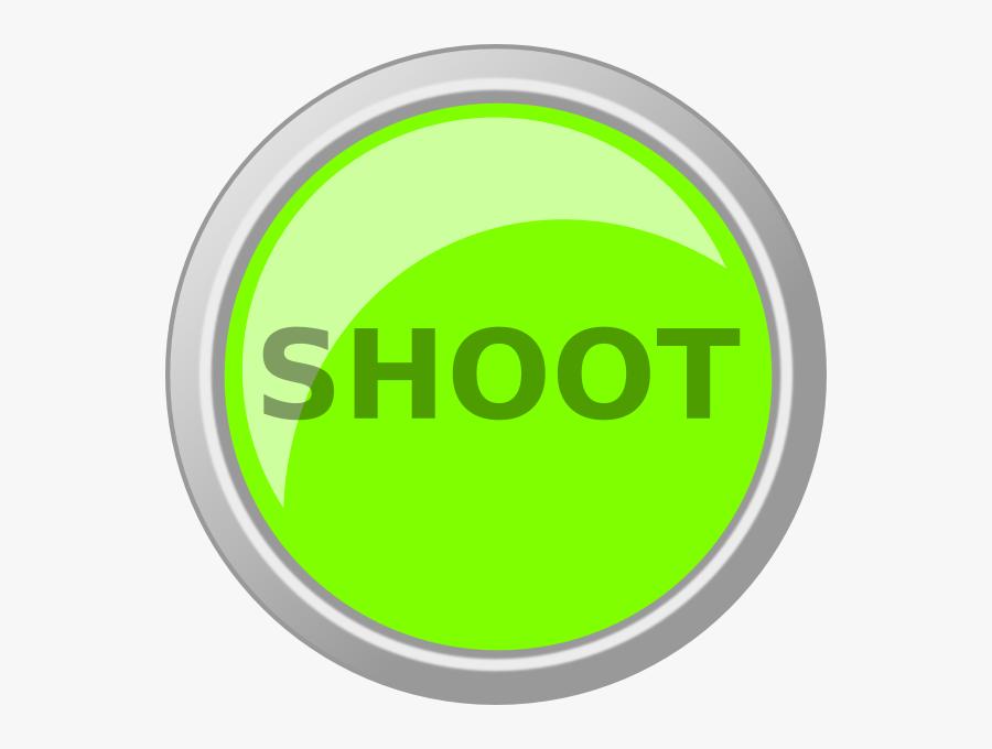 Green Shoot Button Svg Clip Arts - Shoot Button Png, Transparent Clipart
