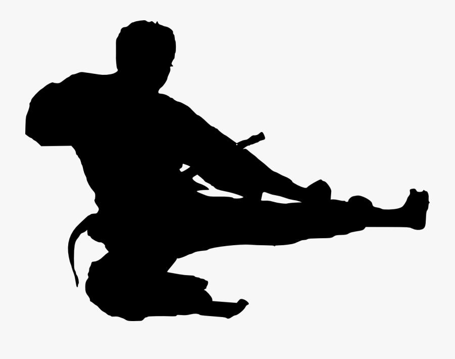 Karate Taekwondo Martial Arts Clip Art Silhouette Karate Jump Kick Free Transparent Clipart Clipartkey