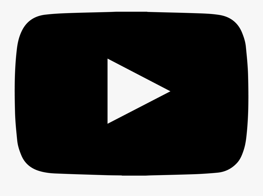 Play Icons Symbol Youtube Computer Logo Button Clipart - Youtube Logo Png Black, Transparent Clipart