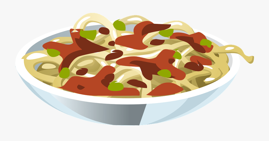 Plate Of Spaghetti Clipart - Dinner Food Clipart, Transparent Clipart
