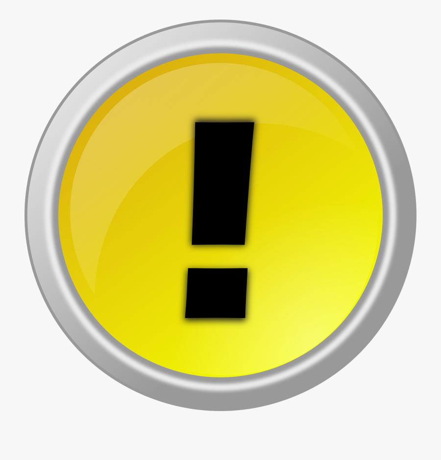 Warning Button Clipart Vector Clip Art Free - Button Warning, Transparent Clipart