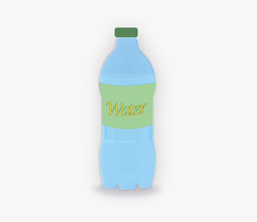 Blue,liquid,plastic Bottle - Plastic Bottle, Transparent Clipart