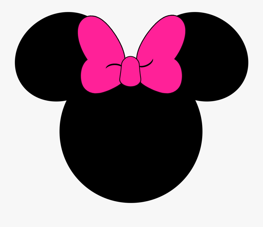 Clip Art Disney Ears Clipart - Printable Minnie Mouse Head Silhouette, Transparent Clipart