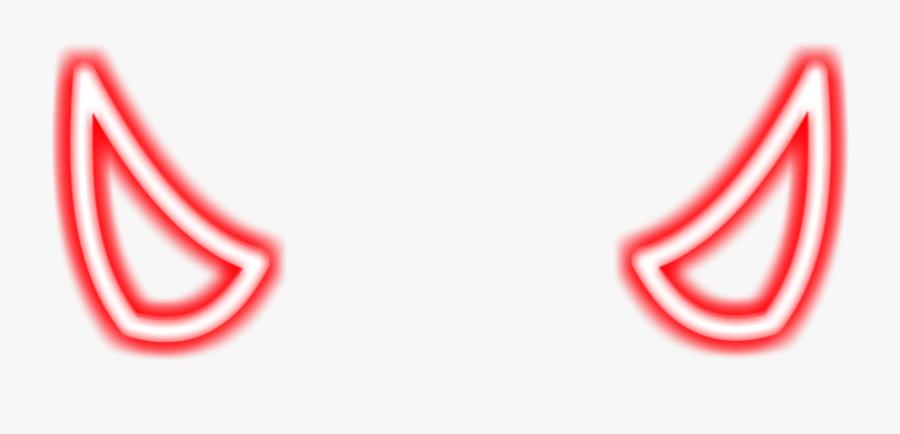 Neon Devil Horns Png, Transparent Clipart