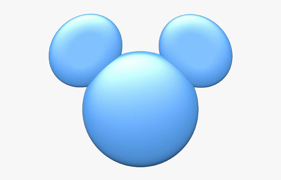 Mickey Mouse Icon Clipart - Baby Mickey Mouse Head Blue, Transparent Clipart