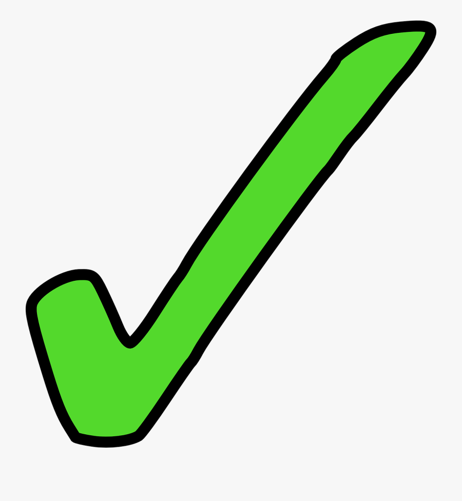 Check Mark Clip Art - Green Tick Clip Art, Transparent Clipart