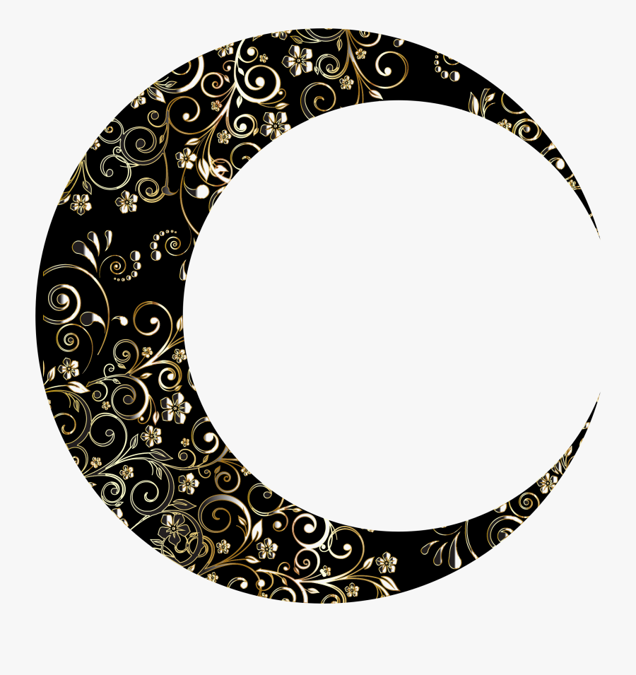 New Moon Clipart At Getdrawings - Moon Crescent Drawing, Transparent Clipart