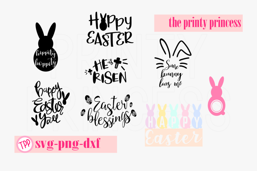 Bunny Ears Clipart Svg - Happy Easter Bunny Design, Transparent Clipart
