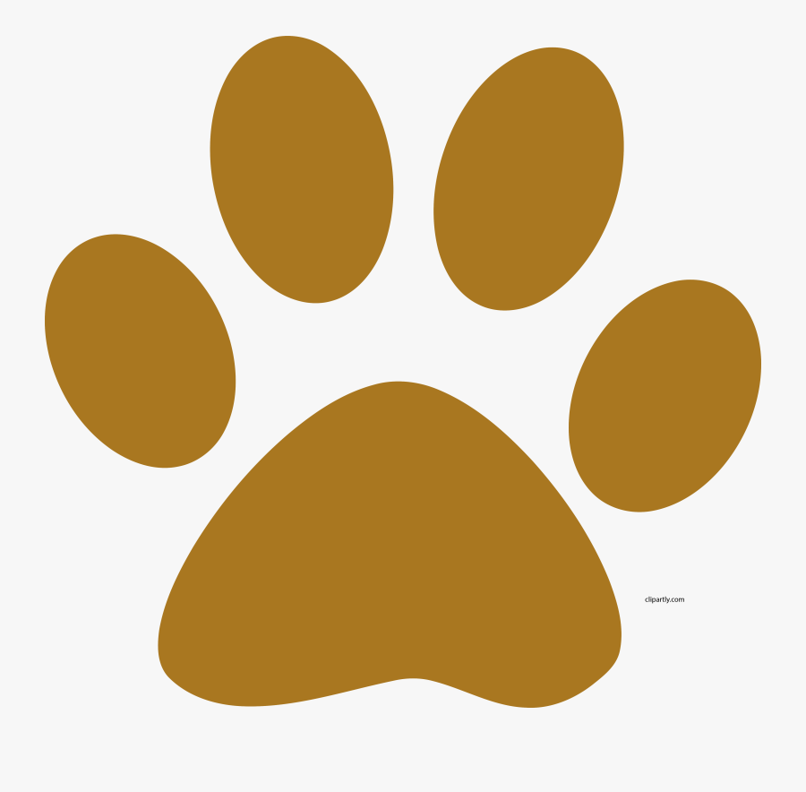 A Muddy Brown Dog Paw Print Clipart Png - Paw Print Clipart Png, Transparent Clipart