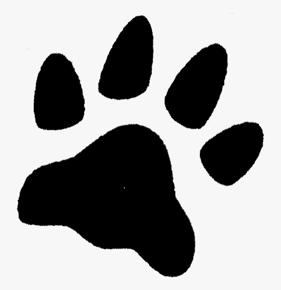 Zoom Paw Print Rubber Stamp - Inked Paw Print Transparent, Transparent Clipart