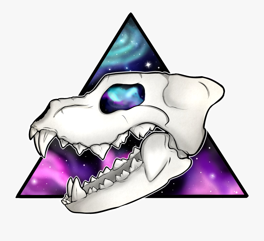 Galaxy Wolf Skull - Galaxy Designs For Wolf, Transparent Clipart