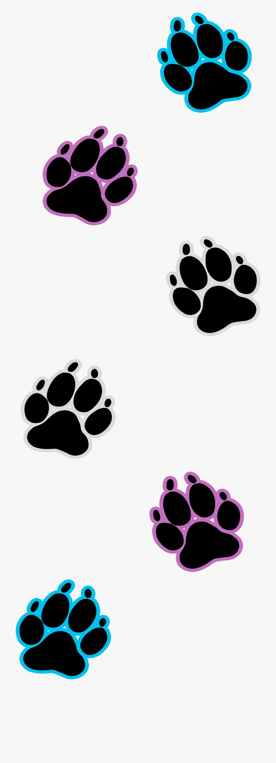 Dog Paw Prints Transparent & Png Clipart Free Download - Clip Art Transparent Paw Prints, Transparent Clipart