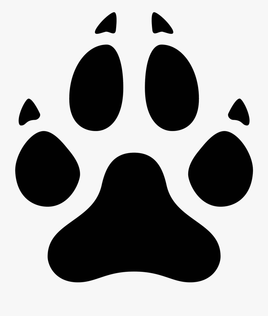 Transparent Wolf Paw Print Png - Bear Prints Clip Art, Transparent Clipart
