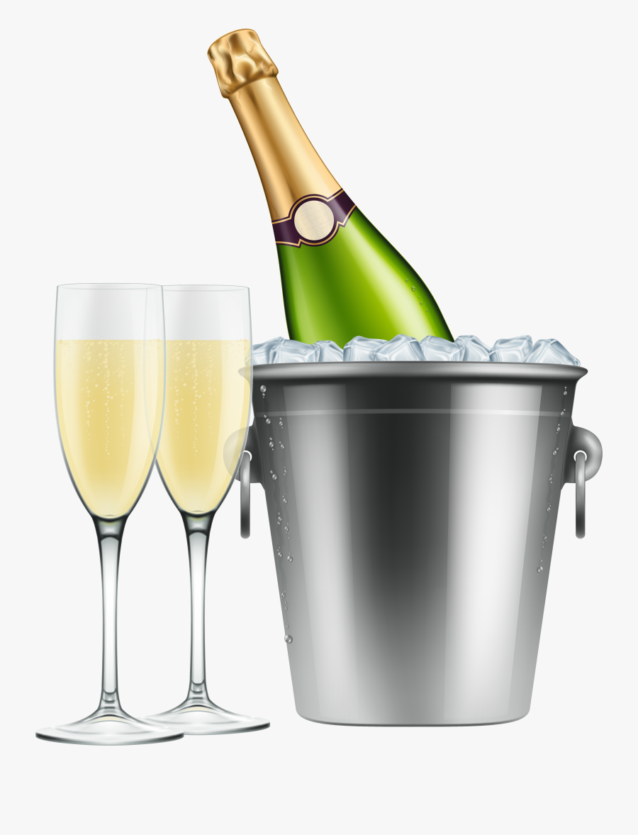Champagne Glass And Bottle Png, Transparent Clipart