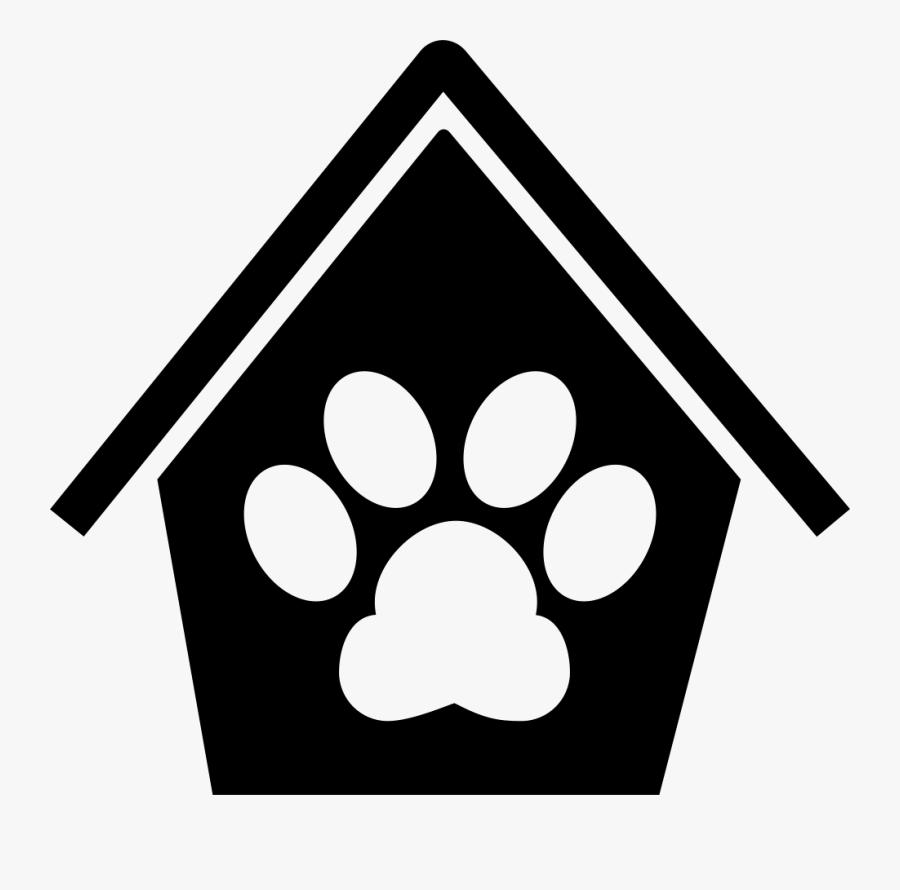Dog Pawprint In A House - Icono De Casa De Perro, Transparent Clipart