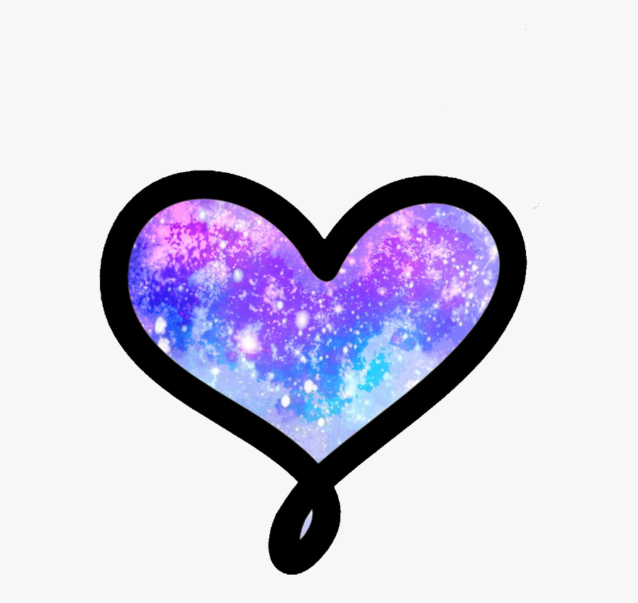 Cute Heart Png -galaxy Heart Png, Transparent Png - Galaxy Clip Art Heart, Transparent Clipart