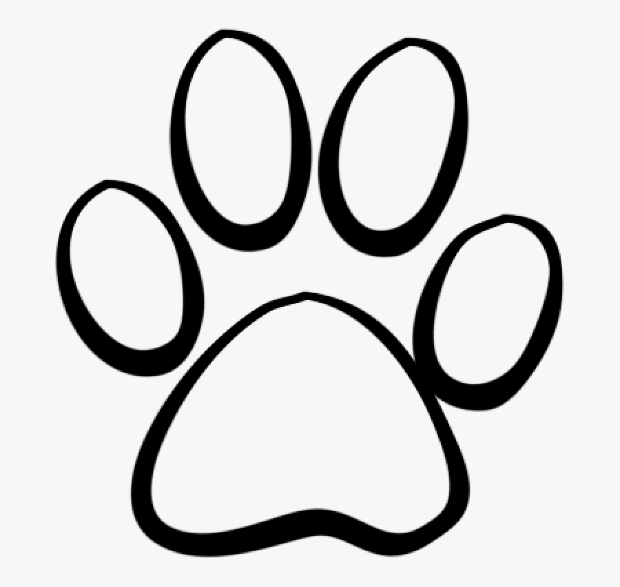 Paw Print Tattoo Outline, Transparent Clipart