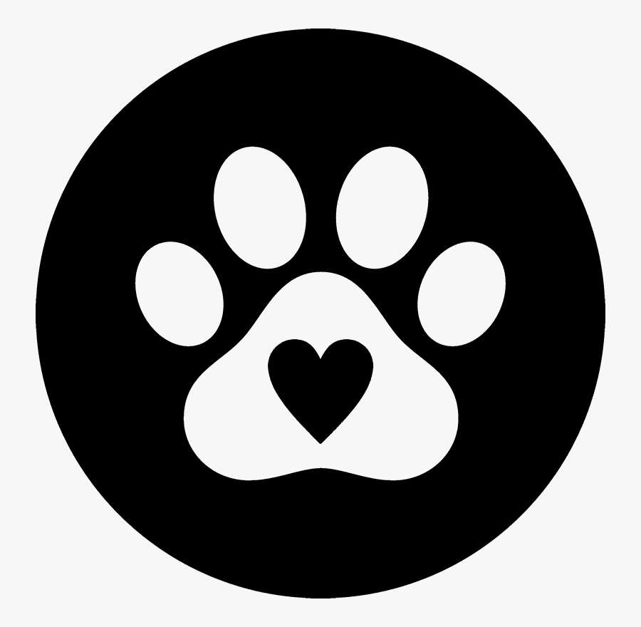 Paw Print Seal With Heart Rubber Stamp - Paw Print With Heart Clipart, Transparent Clipart