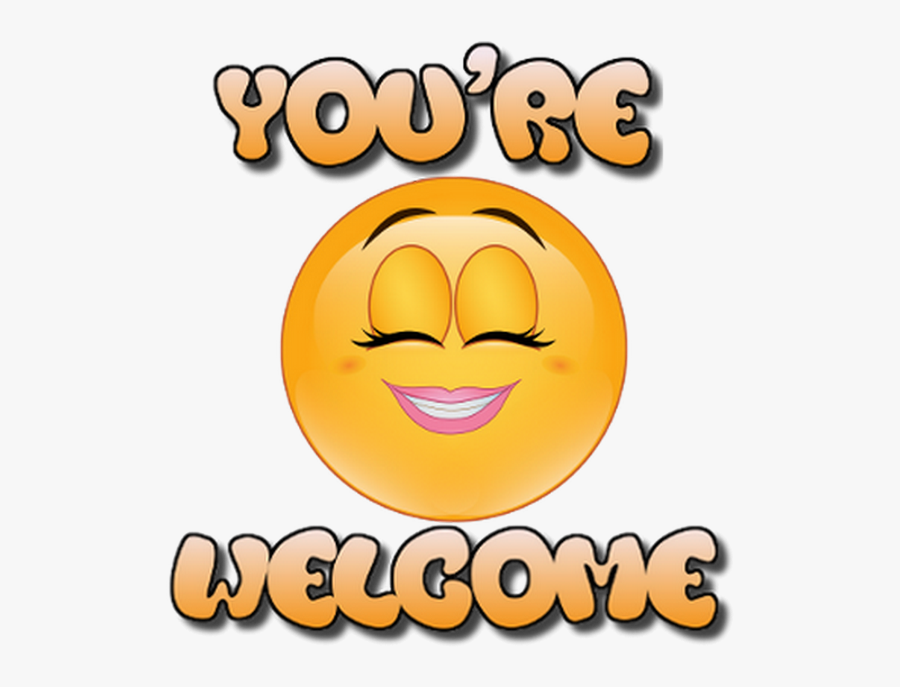 """Transparent You""""re Welcome Clipart - You Are Welcome Smiley, Transparent Clipart"""