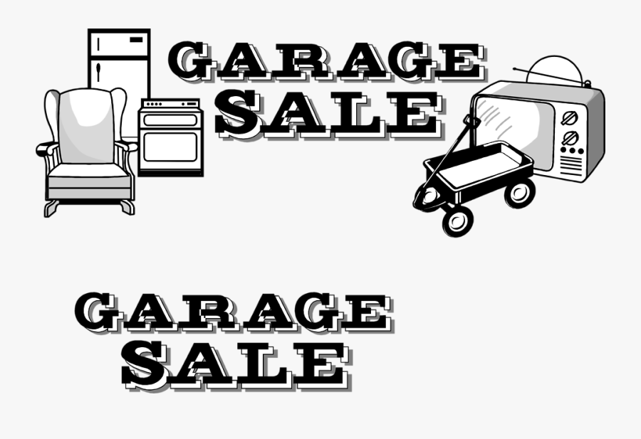 Free Stock Photos - Garage Sale Clipart Black And White, Transparent Clipart