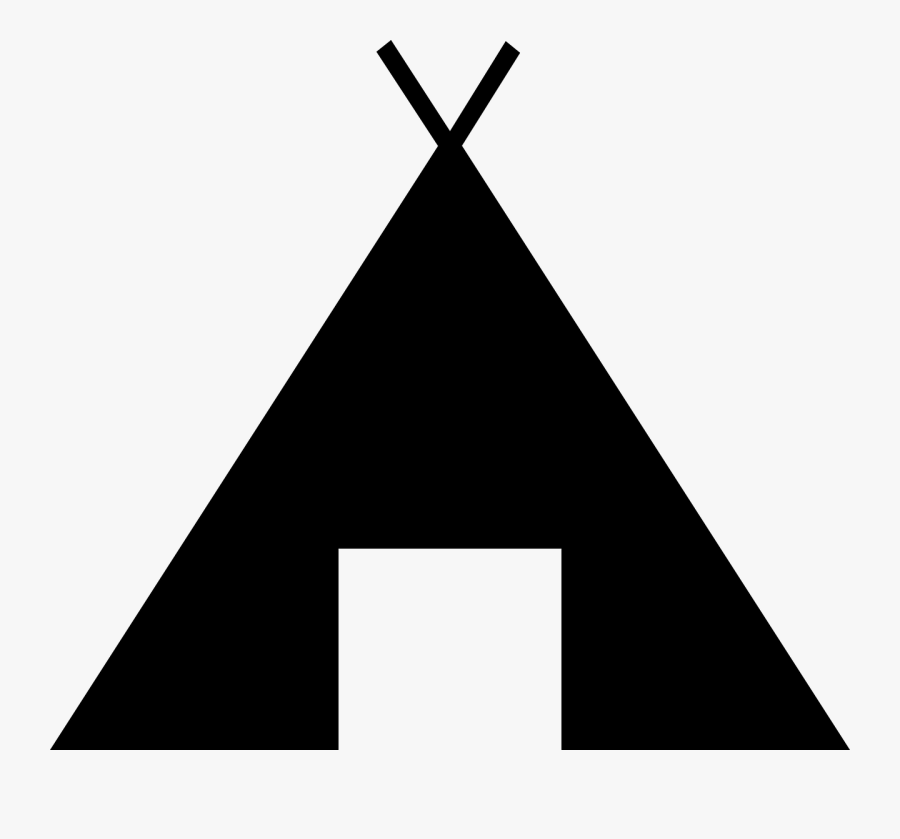 Tent Clipart Black, Transparent Clipart