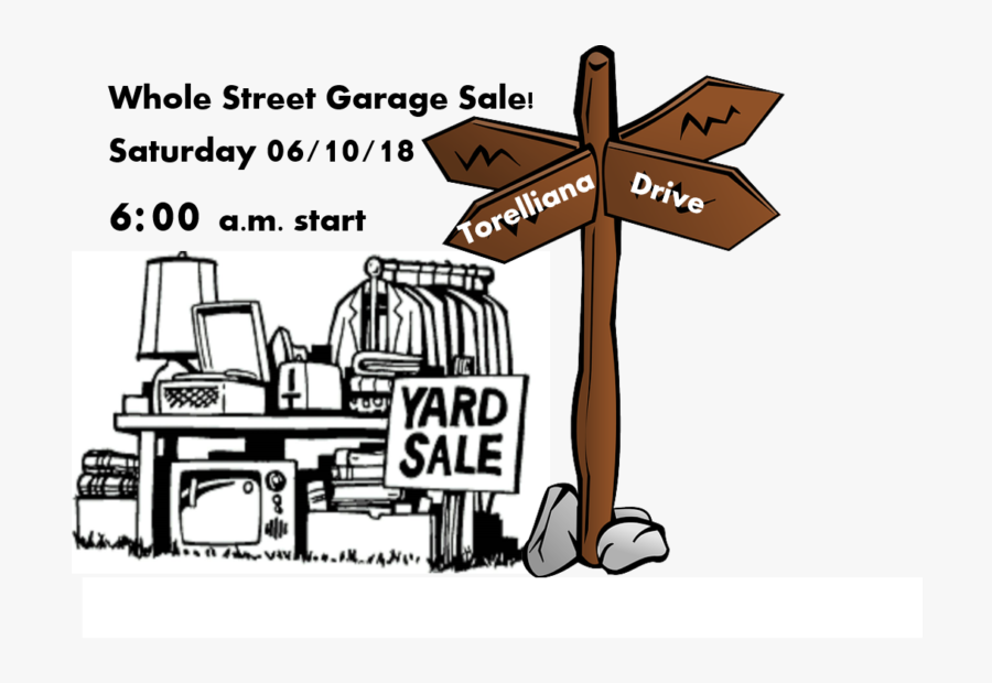 Multiple House Garage Sale 6/10/18 - Yard Sale Clip Art Black And White, Transparent Clipart