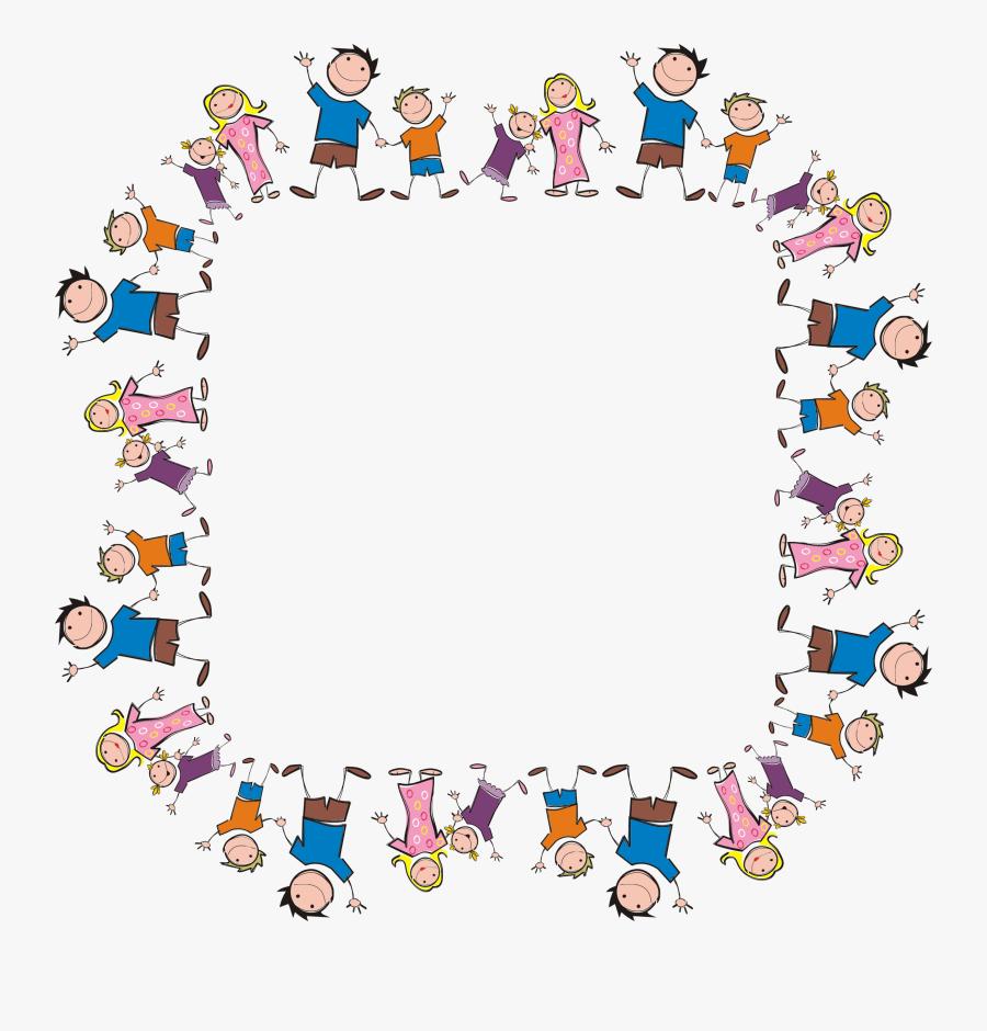 Stick Figure Family Square Clip Arts - Family Clipart Border, Transparent Clipart