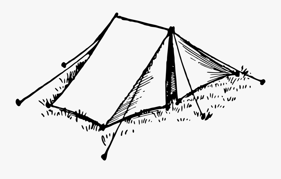 Tent - Tent Black And White Clipart, Transparent Clipart
