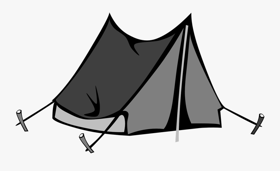 Clip Art Black And White Tent Clipart - Transparent Tent Clipart, Transparent Clipart