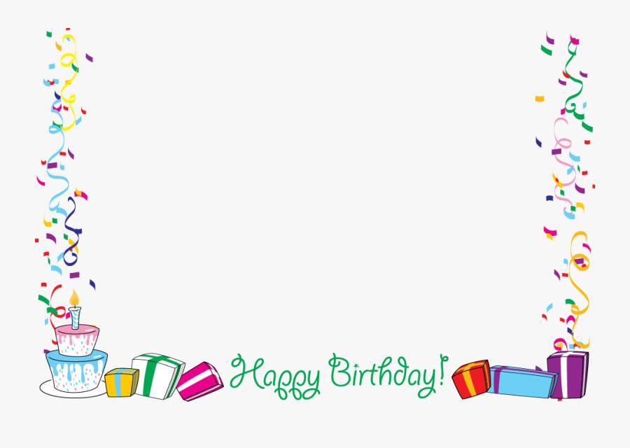 Happy Anniversary Border Clip Art - Happy Birthday Border Png, Transparent Clipart