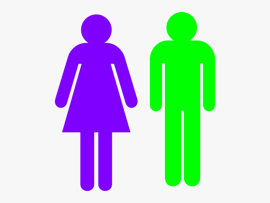 Stick Figure Male And Female, Transparent Clipart