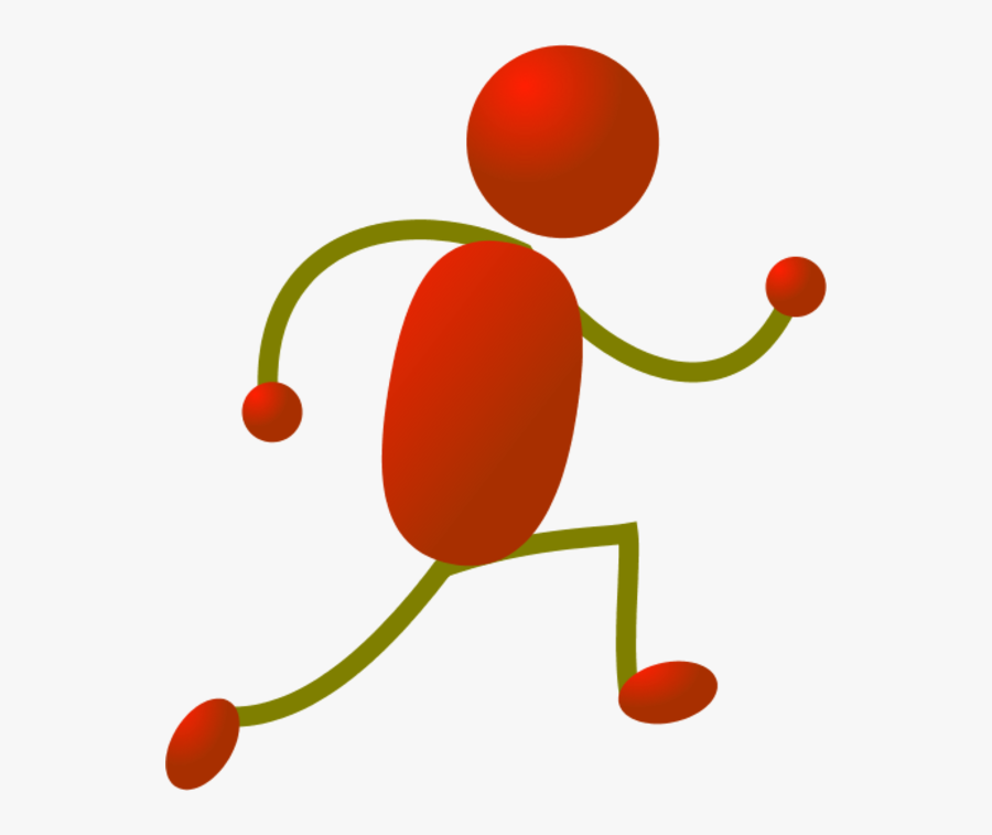 Run Clipart Red - Stick Man Running, Transparent Clipart