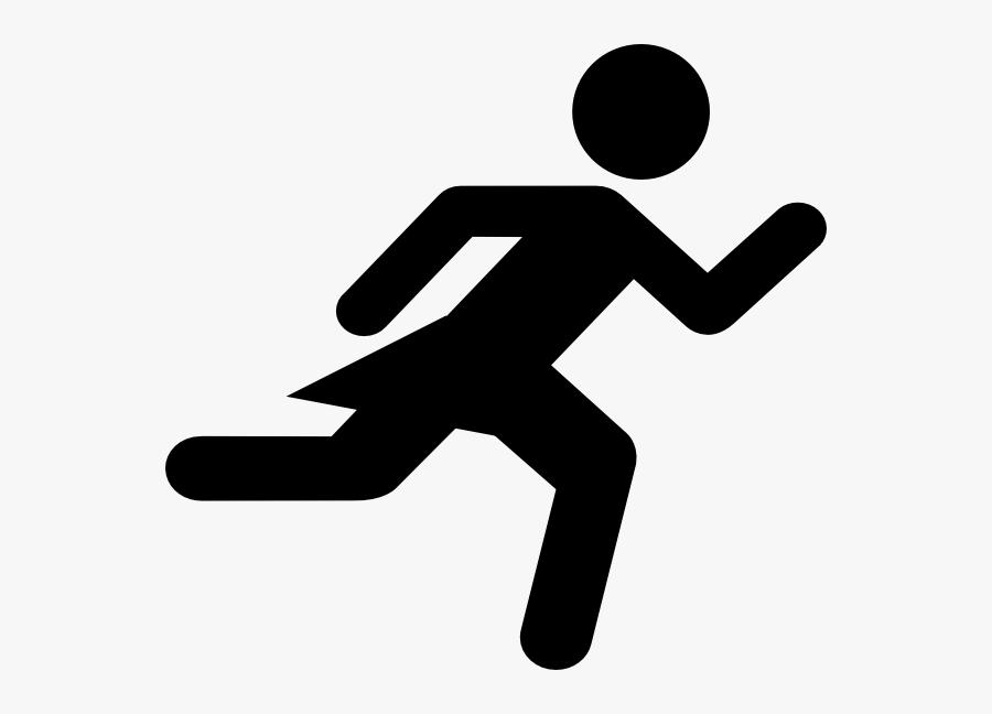 Runner Girl Stick Figure Clip Art - Female Stick Figure Running, Transparent Clipart