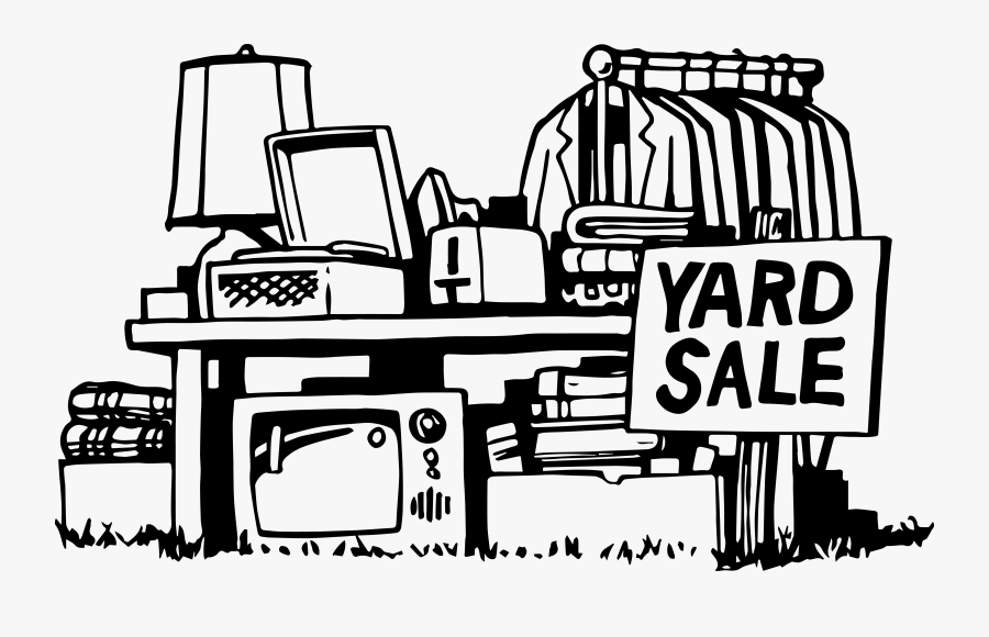 Yard Sale Clip Art Black And White, Transparent Clipart