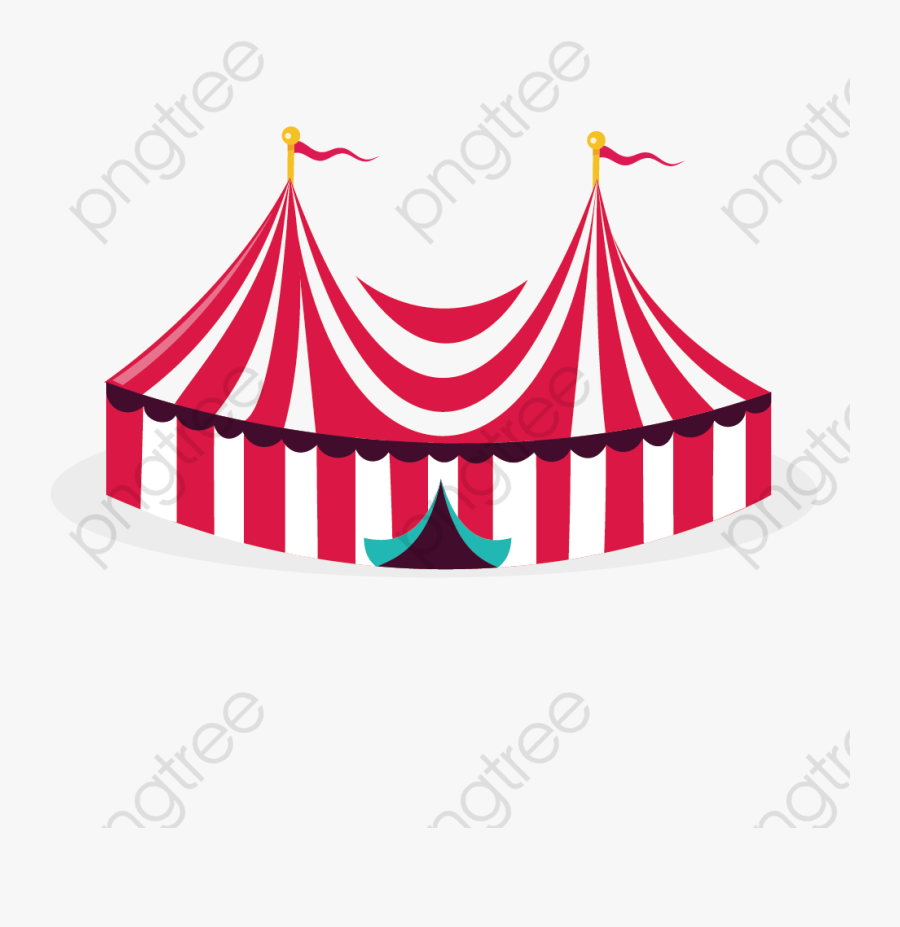 Tent Clipart Color - Transparent Background Circus Tent Transparent, Transparent Clipart