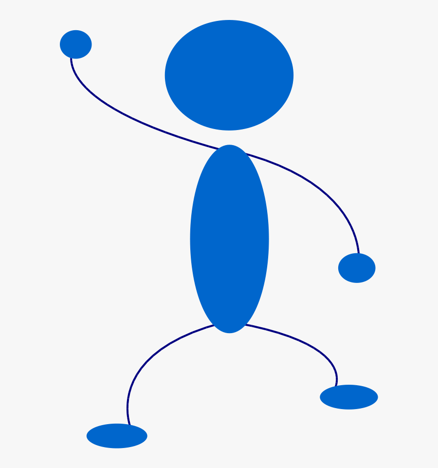 Stick Figure Clip Art - Waving Stick Figure Png, Transparent Clipart
