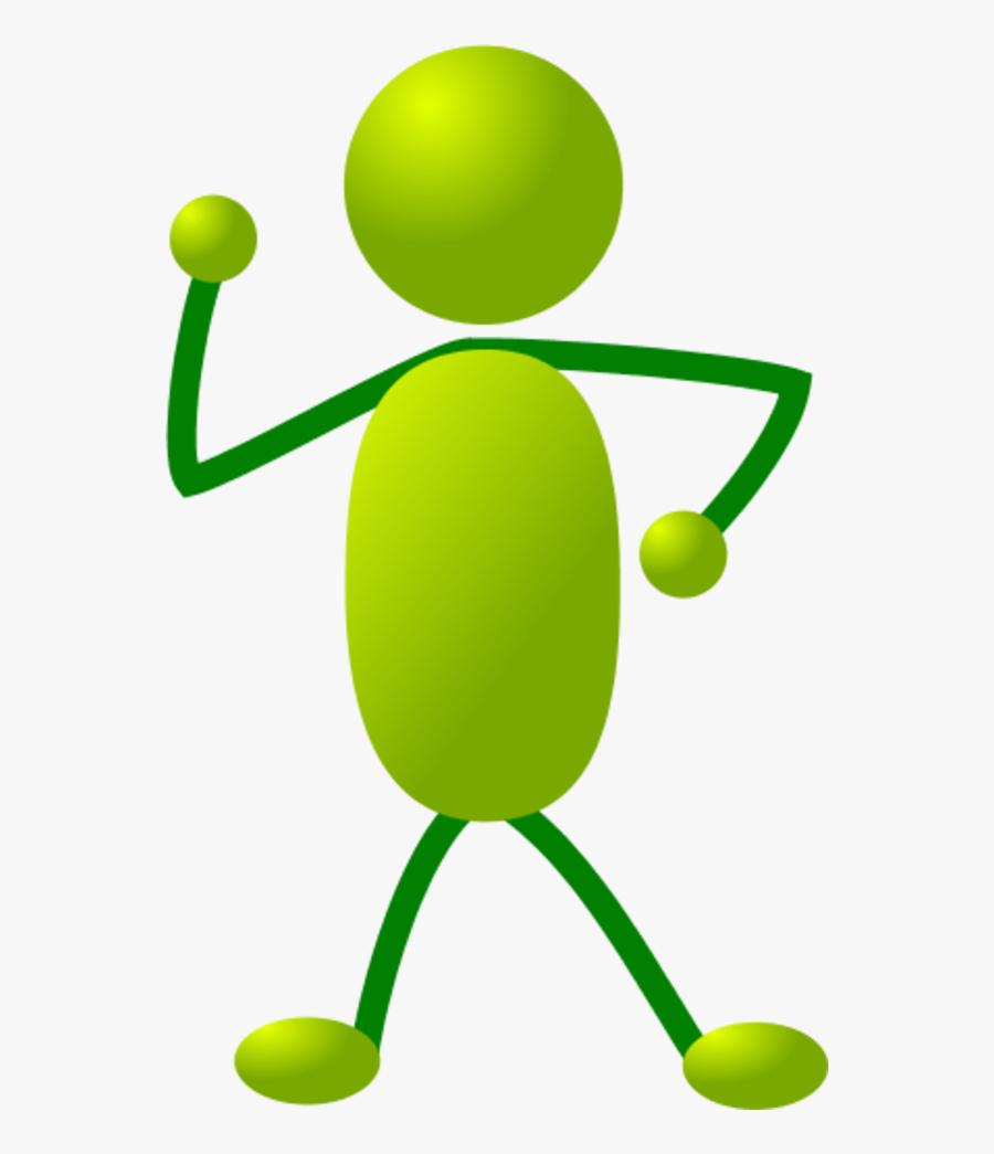 Stick Man Figure Dancing - Self Reflection Clip Art, Transparent Clipart