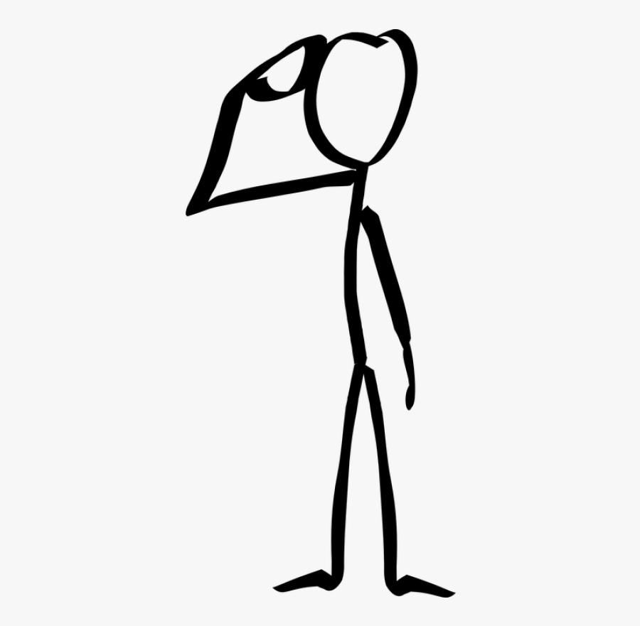 Stickman, Stick Figure, Match - Stick Figure Thinking Png, Transparent Clipart