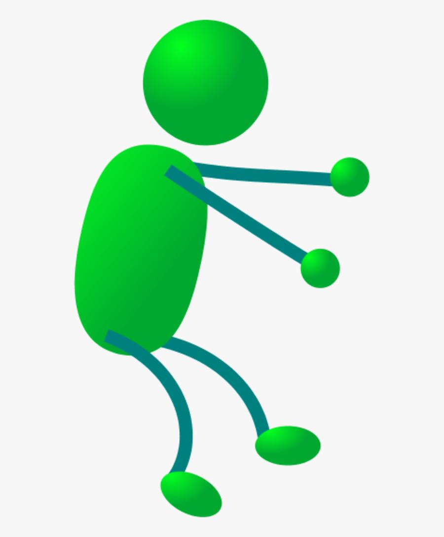 Stick Figure Riding - Stick Man Clip Art, Transparent Clipart