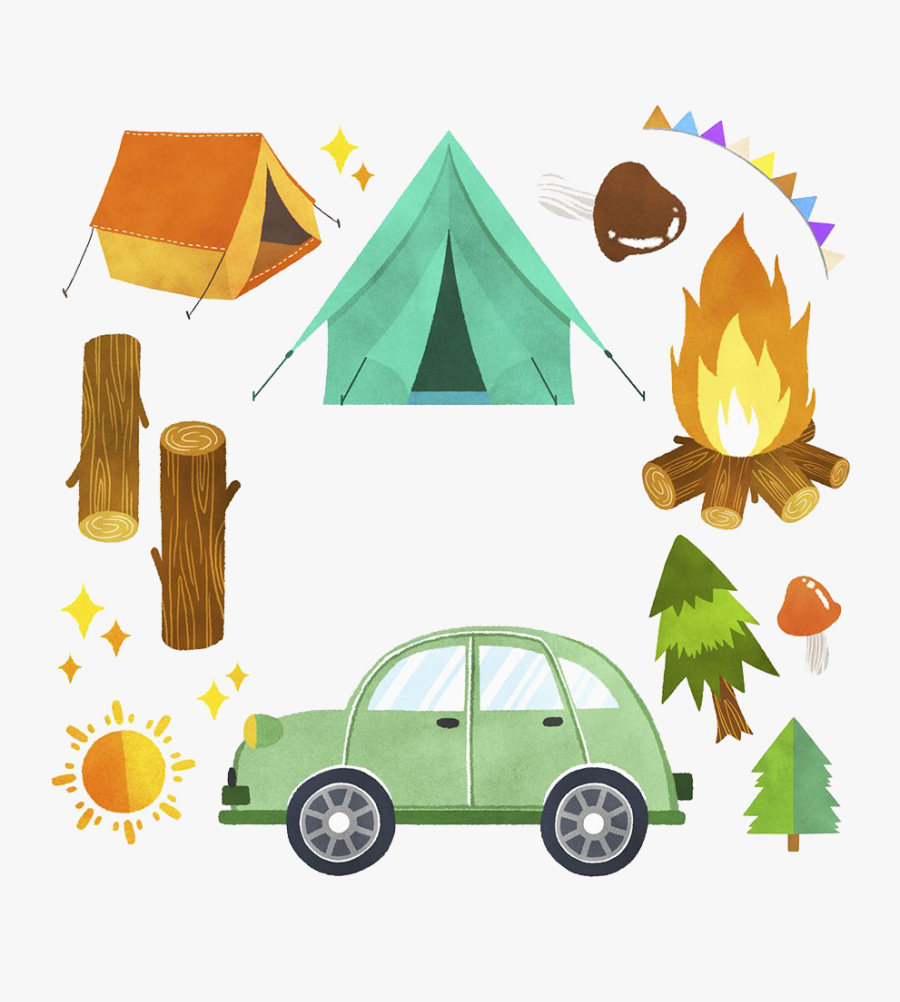 Clip Art Camping Tent Illustration Illustrations - Car Tent Camping Clipart, Transparent Clipart