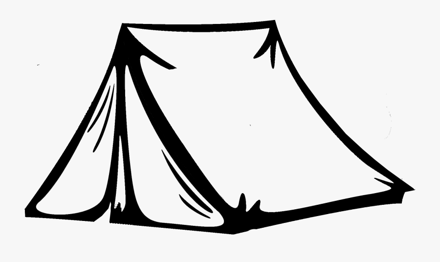Transparent Tent Clipart - Camping Tent Clipart Black And White, Transparent Clipart