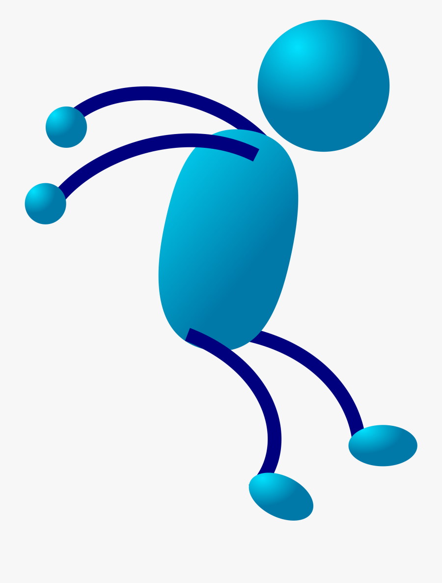 Artwork,line,stick Figure - Stick Man Running, Transparent Clipart
