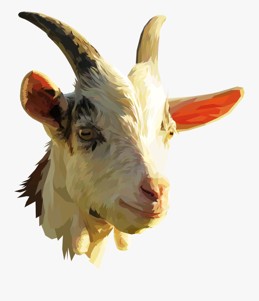 Goat Antelope,livestock,horn - Goat Head No Background, Transparent Clipart