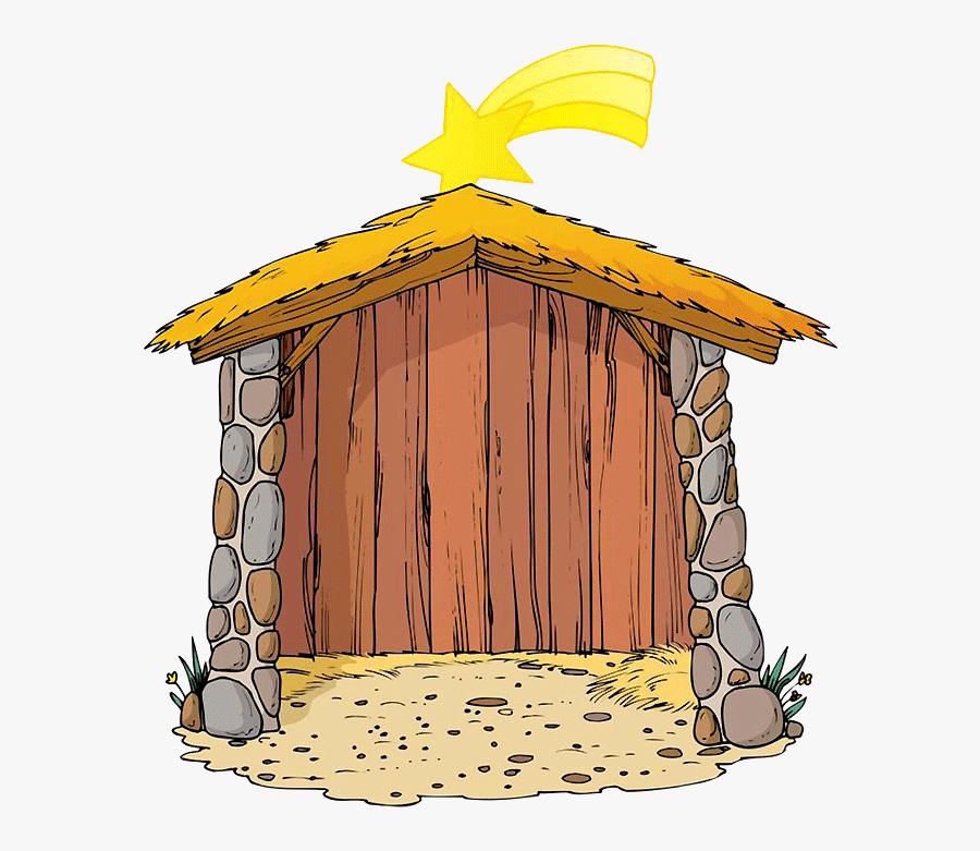 Hut Clipart Nativity - Hut Christmas Nativity Clipart, Transparent Clipart
